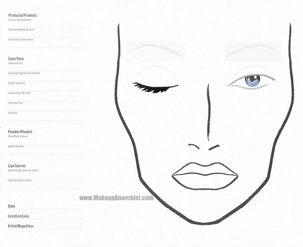 Blank Mac Face Charts Makeup