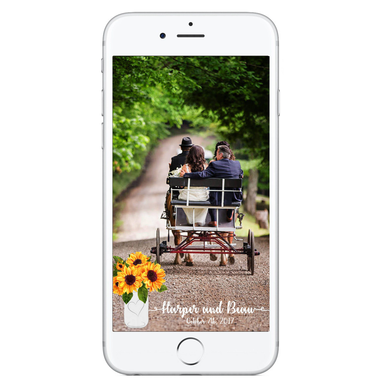 Sunflower Wedding Snapchat Geofilter Sunflowers Mason