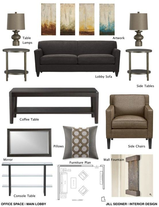 Concept Board For Therapist Office Jill Seidner Interior Design Concept Boards Therapy Office