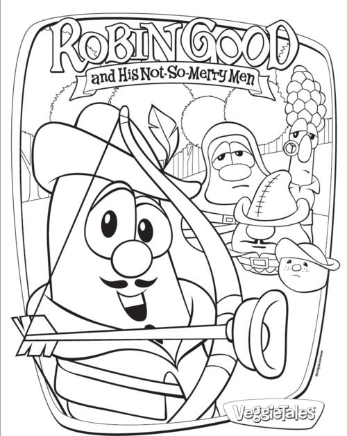 Download This And 5 Other Printable Coloring Sheets From Robin Good And His Not So Merry Men Download From Cartoon Coloring Pages Coloring Pages Veggie Tales