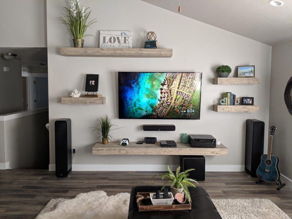 Floating Shelves Living Room Entertainment Center Wall Shelves