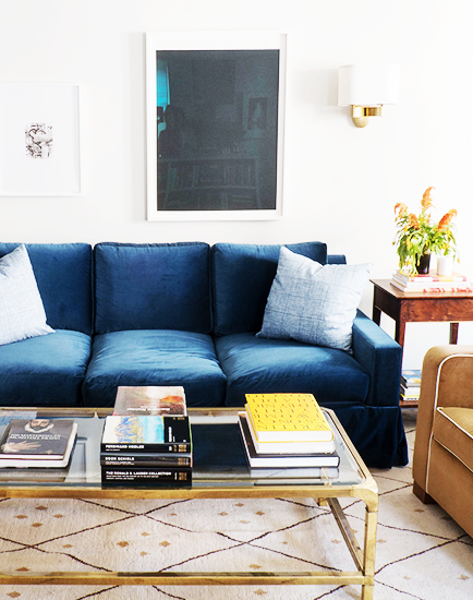 9 Things That Make Your Home Less Sophisticated Blue Sofa
