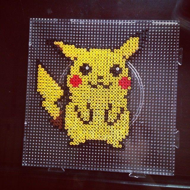 Pikachu Pokemon perler beads by dorothy_wow   Okreation