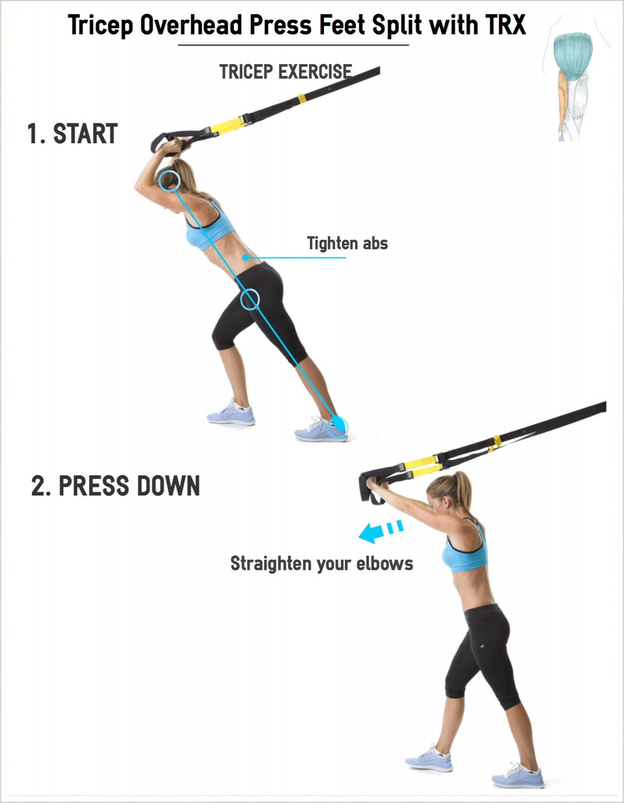 overhead exercise The dumbbell overhead press engages the whole shoulder to complete the exercise, simply sit on a bench (one with a back support is preferable.