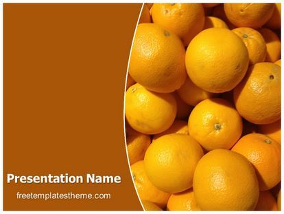 Get This Free Oranges Powerpoint Template With Different