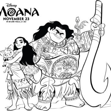 FREE Moana Coloring Pages Set