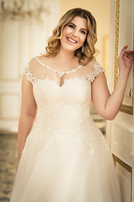 Brautkleid Ivory Beige Glitzertull Blutenspitze Lovely Zivil Hochzeits Kleider Hochzeitskleider Freier Rucken Kleid Hochzeit