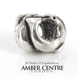 Authentic Trollbeads Silver Dolphins 11214