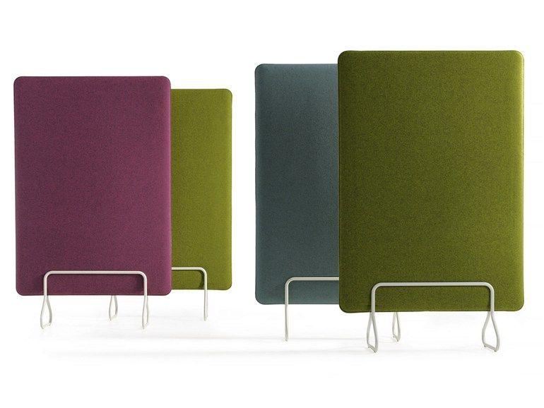 freistehende schreibtisch trennwand clip by morgana design. Black Bedroom Furniture Sets. Home Design Ideas