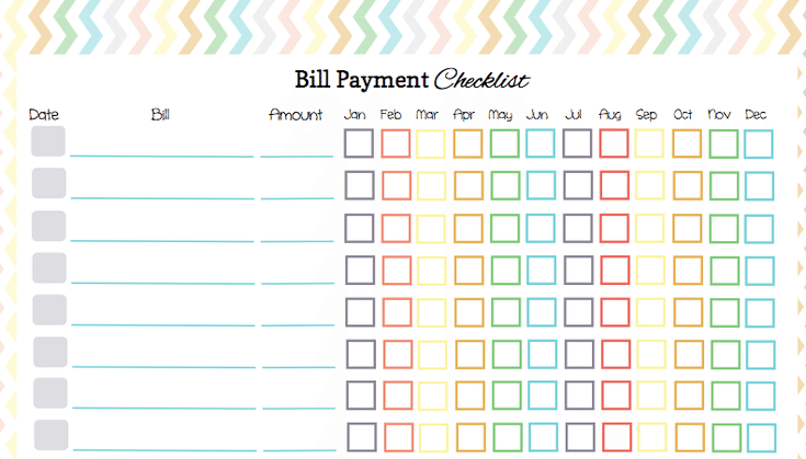 HereS A Free Bill Payment Checklist To Organize Your Bill
