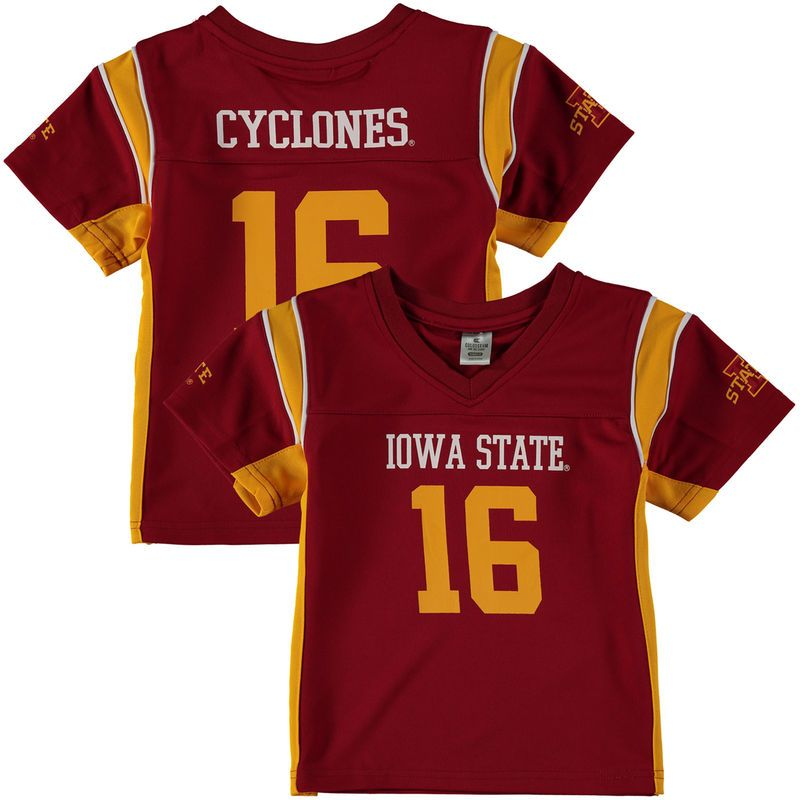 16 Iowa State Cyclones Colosseum Youth Football Jersey Cardinal