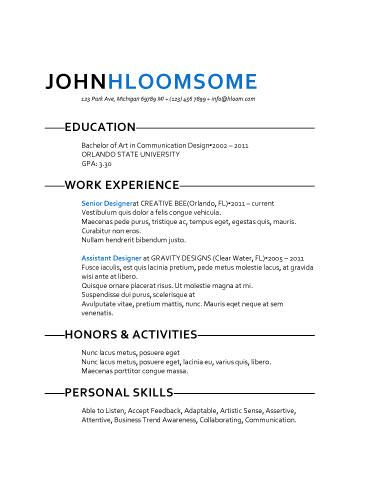 Fresh Take Resume Template  Resume Templates And Samples