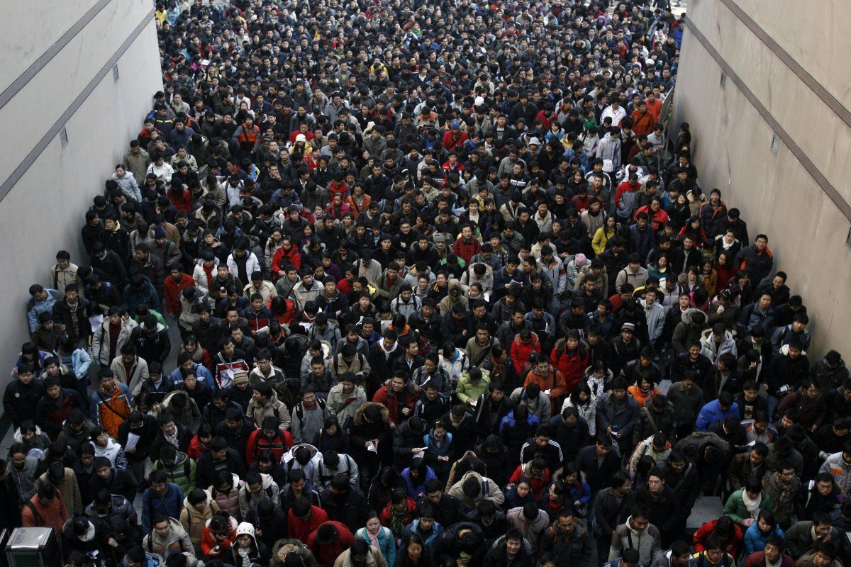 University candidates are lining up to pass the entrance examination for post graduate study in hubei province china more than million chinese applicants
