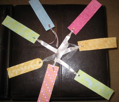 31 diy: Tutorial: Handmade bookmarks....i like the bead & charm on the ribbon, cute =)