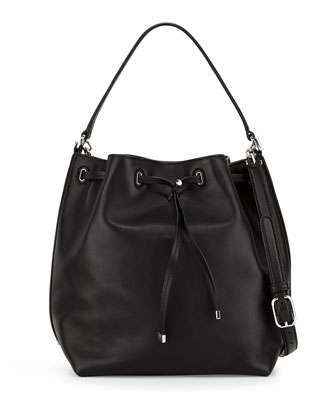 Toggle+Drawstring+Bucket+Bag,+Black+by+Tory+Burch+at+Neiman+Marcus.