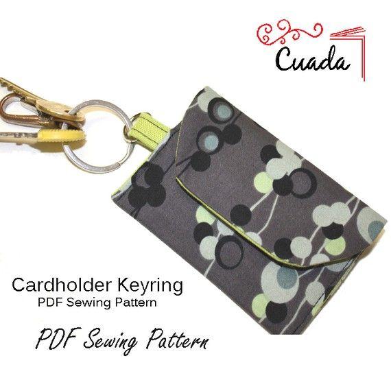 key/card holder | patterns | Pinterest | Nähen