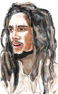 Bob Marley dipinto con gimp