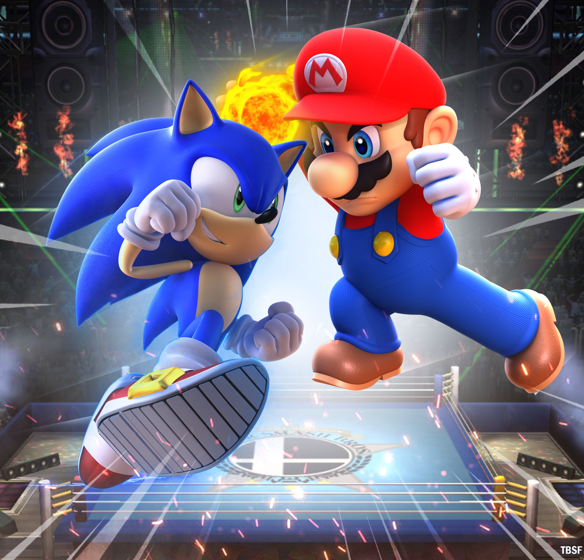 Mario Vs Sonic Console Wars By Alsyouri2001 Sonic Birthday Sonic Super Mario Art