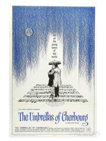 Les parapluies de Cherbourg, film de Jacques Demy, avec Catherine Deneuve, 1964 Reproduction d'art