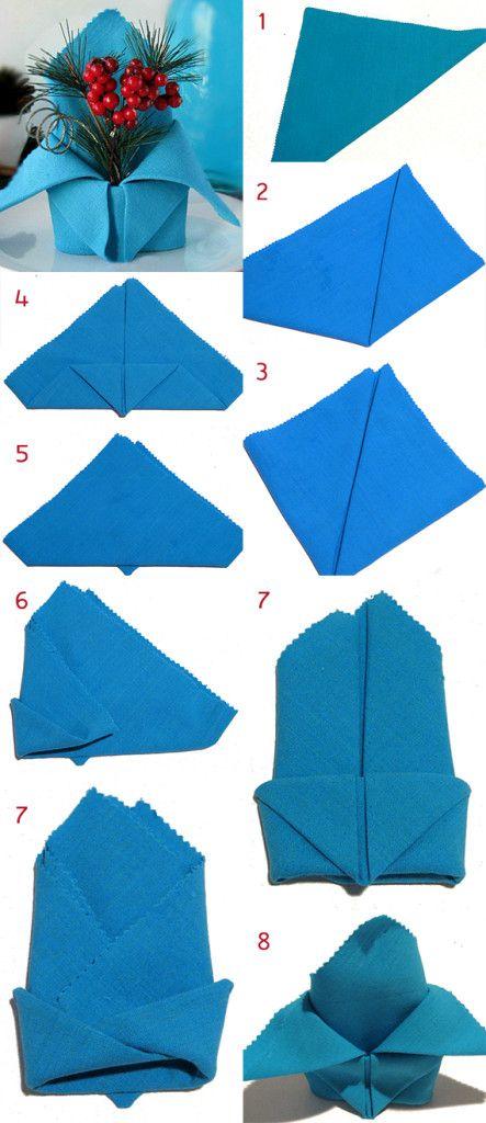 servietten falten mit anleitung weihnachtliche. Black Bedroom Furniture Sets. Home Design Ideas
