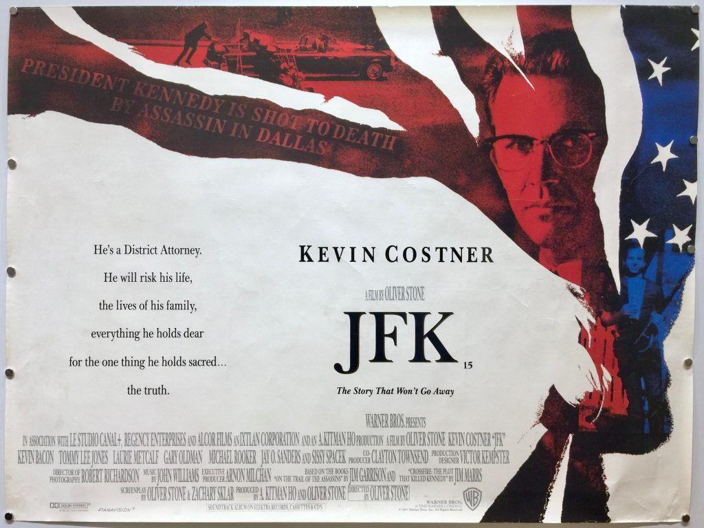 JFK | Kevin costner, Jfk, Movie posters vintage