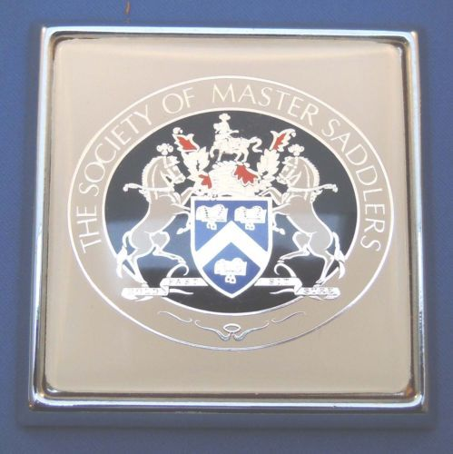 The Society of Master Saddlers Car Badge