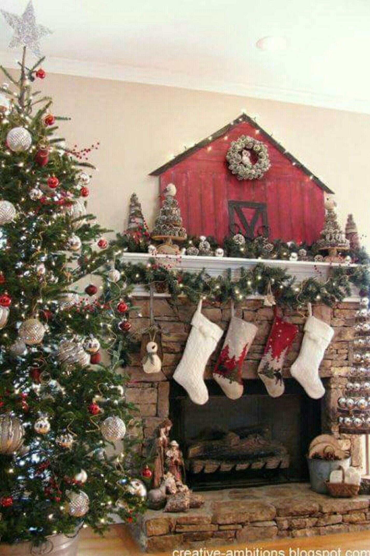the christmas barn - Barn Christmas Decorations