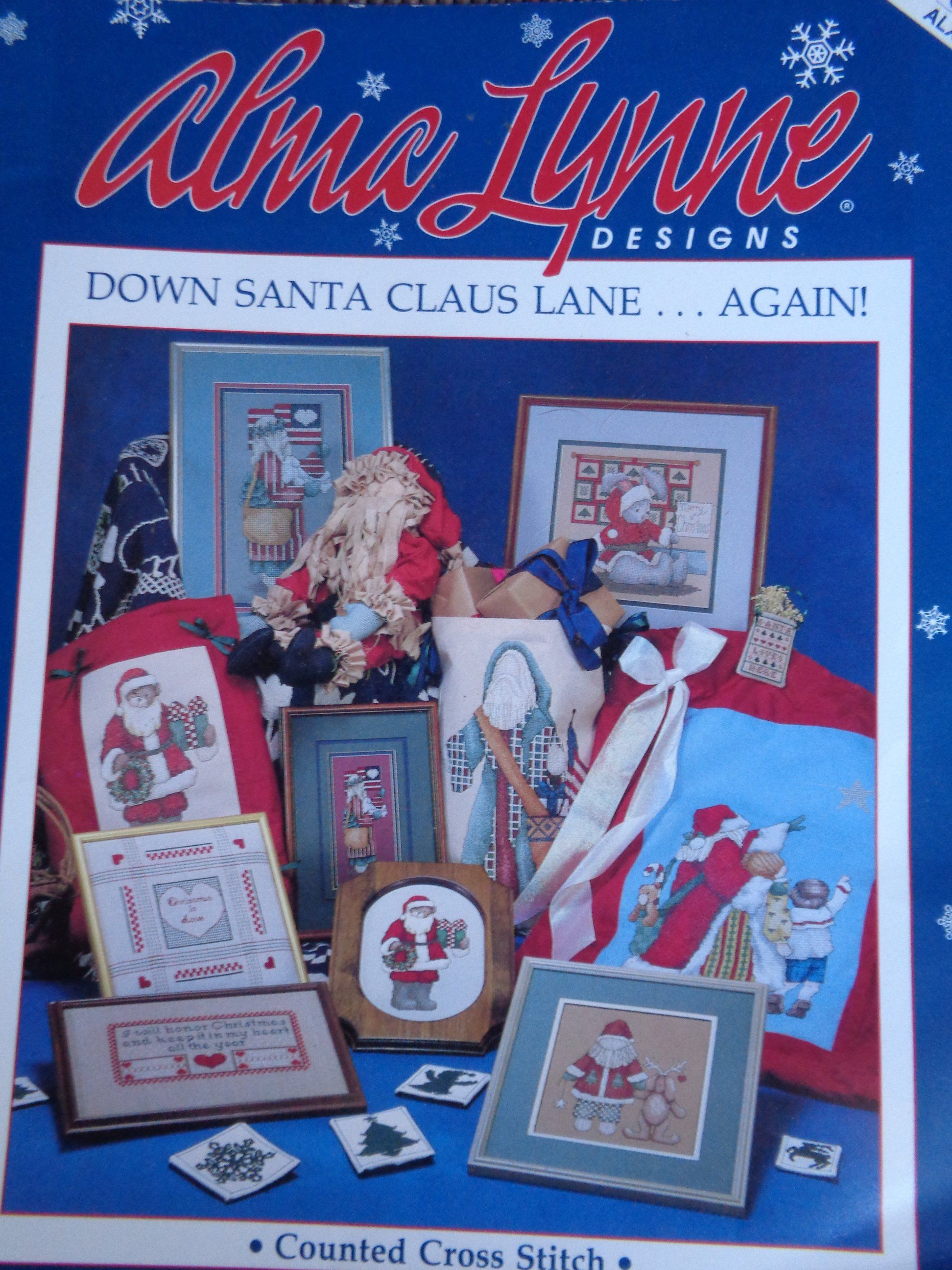 Counted Cross Stitch Alma Lynne Designs Down Santa Claus