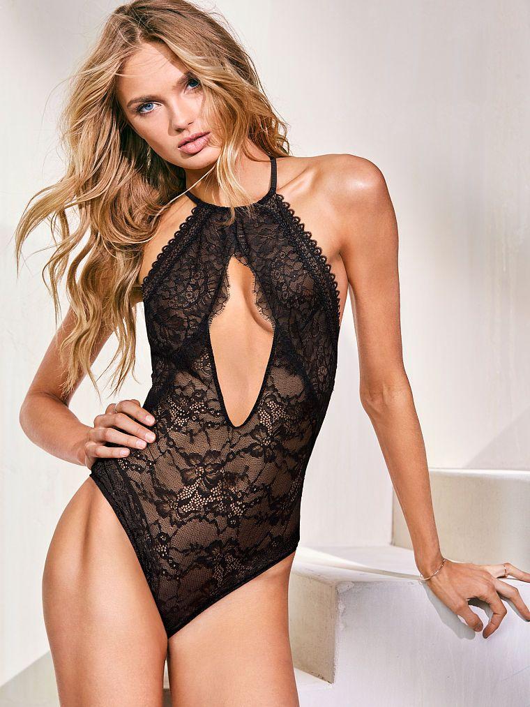 8b96390e10 Lace High-neck Bodysuit - Victoria s Secret