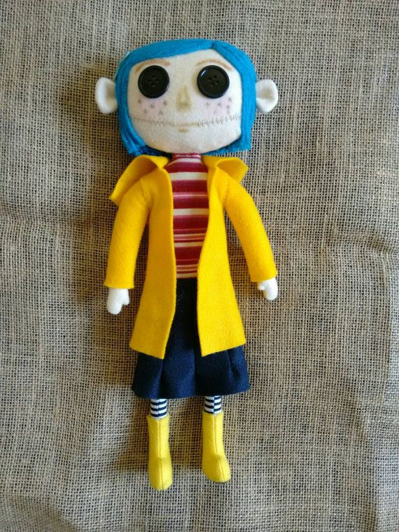 Handmade Coraline Doll Ships Free From London Coraline Doll Homemade Dolls Diy Dolls Tutorial