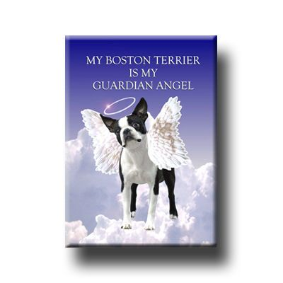 BOSTON TERRIER Guardian Angel MAGNET New DOG Pet Loss