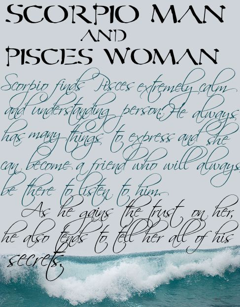 Scorpio man and pisces woman in love