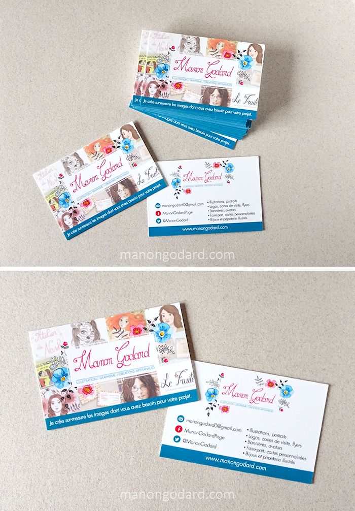 Cartes De Visite Graphiste Illustratrice Carte Creation