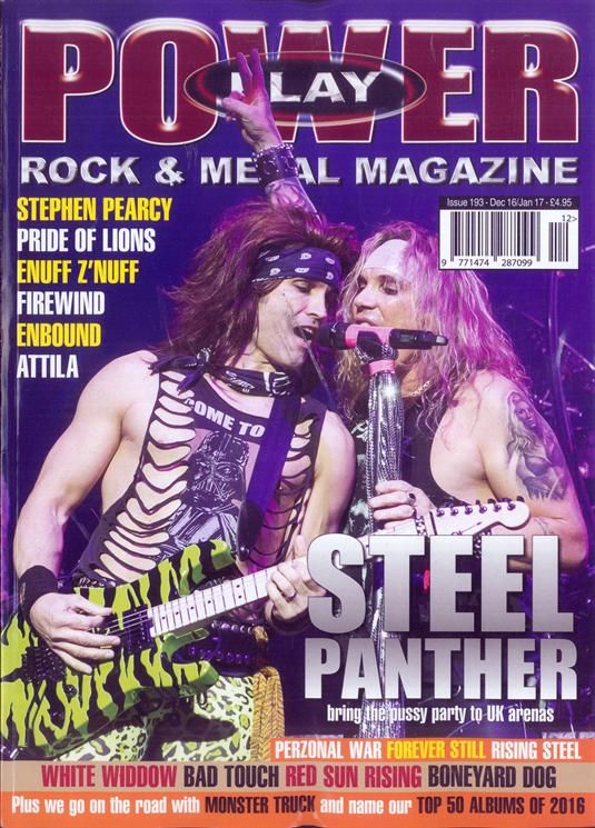 Power Play Magazine - December 2016…..\m/  Get yours from us now at www.newrockbristol.co.uk  Where Heavy Metal Lives!