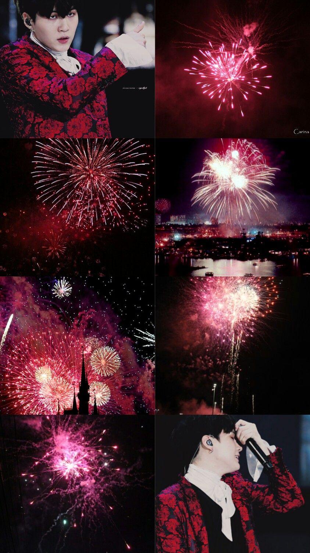 Aesthetic Holiday K Pop Wonderland Bts Lockscreen Aesthetic Fireworks Requested
