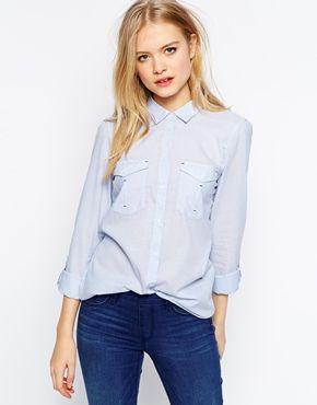Esprit+Blue+Stripe+Shirt
