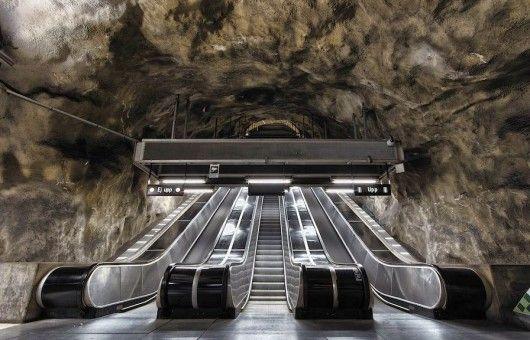 Intervencoes Artisticas Em 90 Estacoes Do Metro De Estocolmo