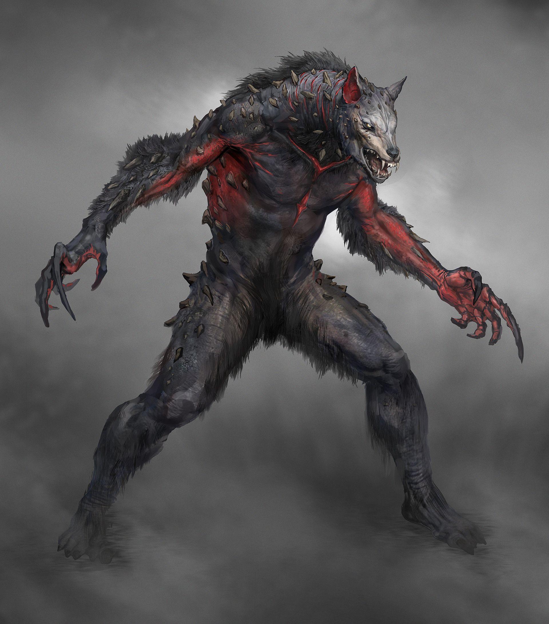Artstation Wulver Yefim Kligerman Monstros Criaturas Escuras Lobisomens