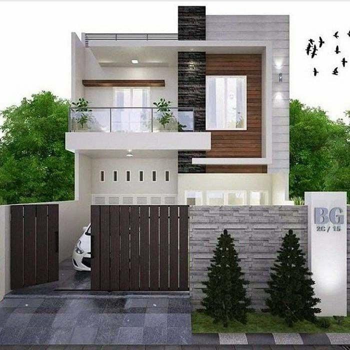 10 Gambar Tampak Depan Desain Rumah Minimalis 2 Lantai Bungalow House Design Minimalis House Design House Outside Design