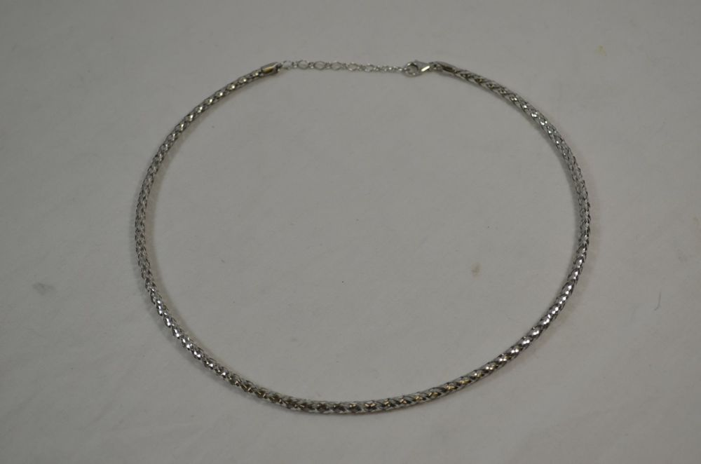 Milor 14k White Gold 17 19 Inch Woven Necklace Qvc 14kt Italy Necklace Fine Jewelry Necklace Pendants Woven Necklace