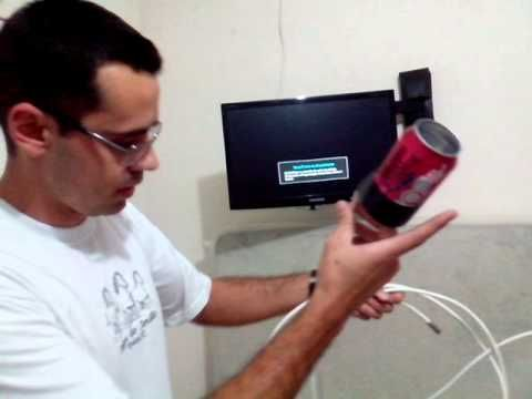 Antena Hdtv Con Una Lata De Redbull Facil De Hacer Youtube