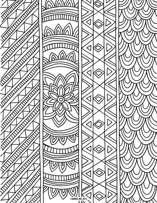 Pat Catan\'s Blog*Abstract Zentangle coloring page for adults Kleuren ...