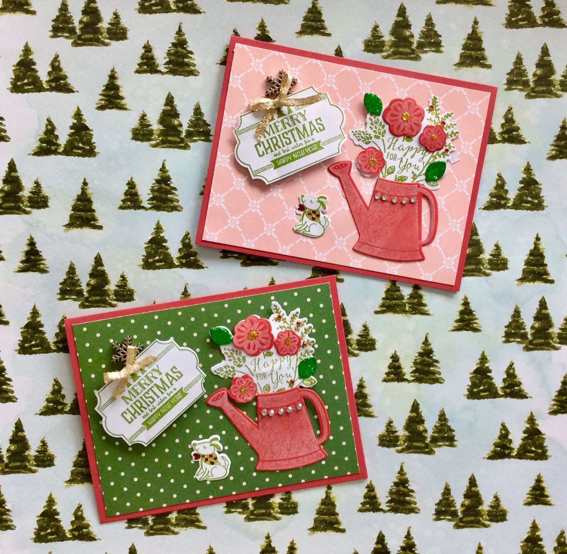 Stampin up Grown with love Christmas cards | Scrapbooking ...