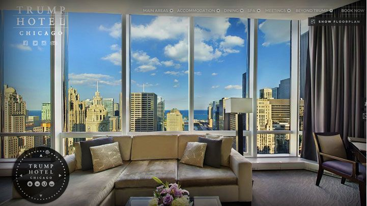 Chicago 5 Star Hotels Trump Hotel Virtual Tours Luxury