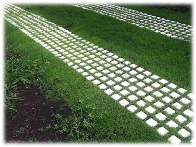 Drivable Grass Grid Grass Driveway Northwest Landscaping Permeable Pavers