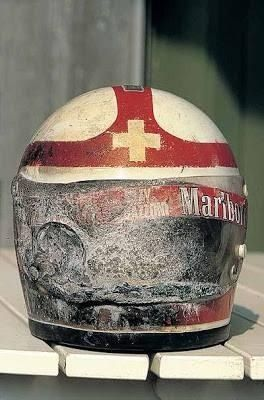 Clay Regazzoni S Helmet After His Firery Crash At Kyalami In 1973