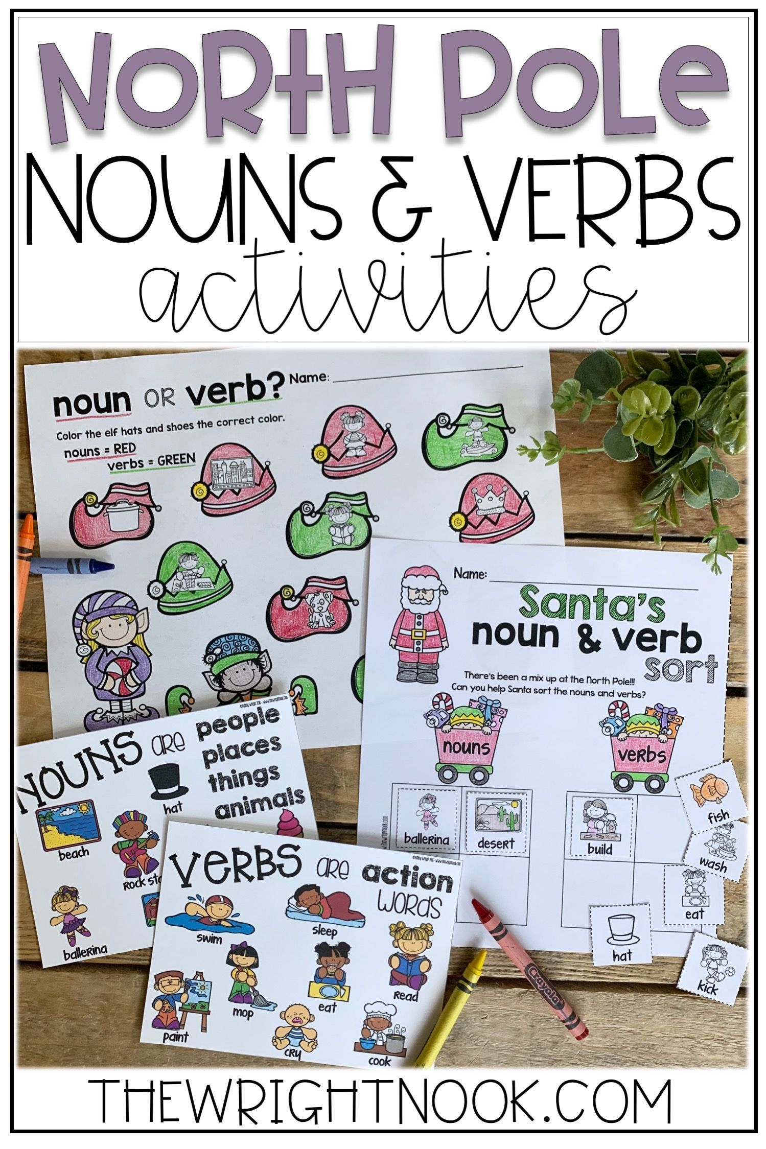 These Nouns And Verbs Activities Are Perfect Christmas