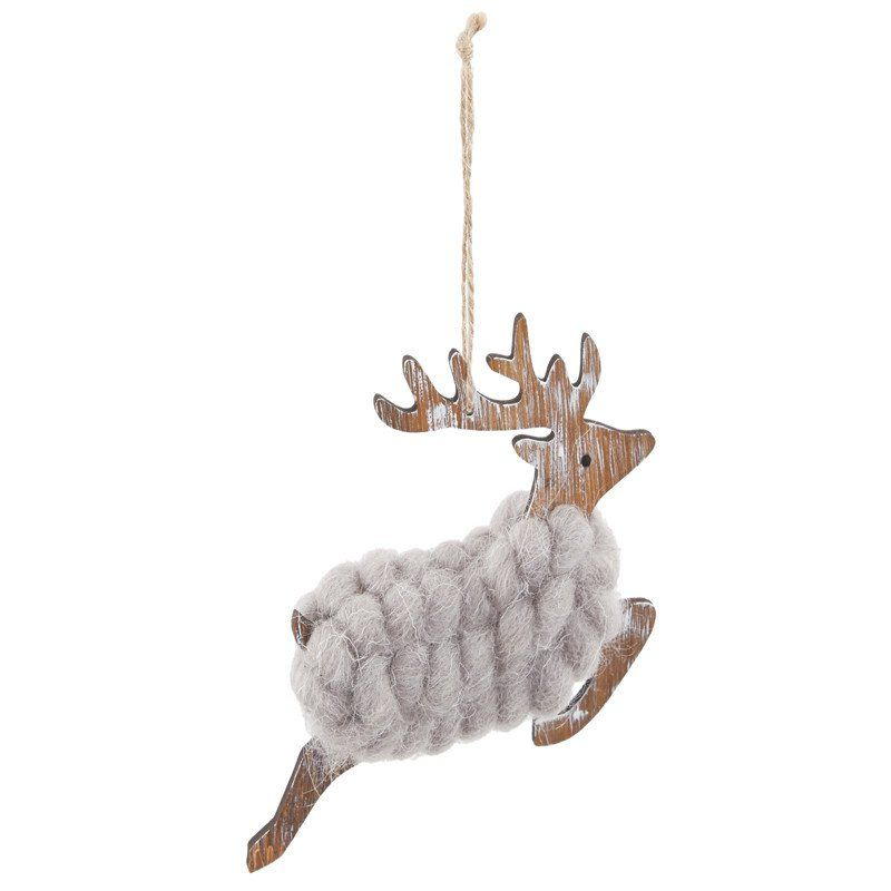 Hanging Jumping Reindeer Decoration