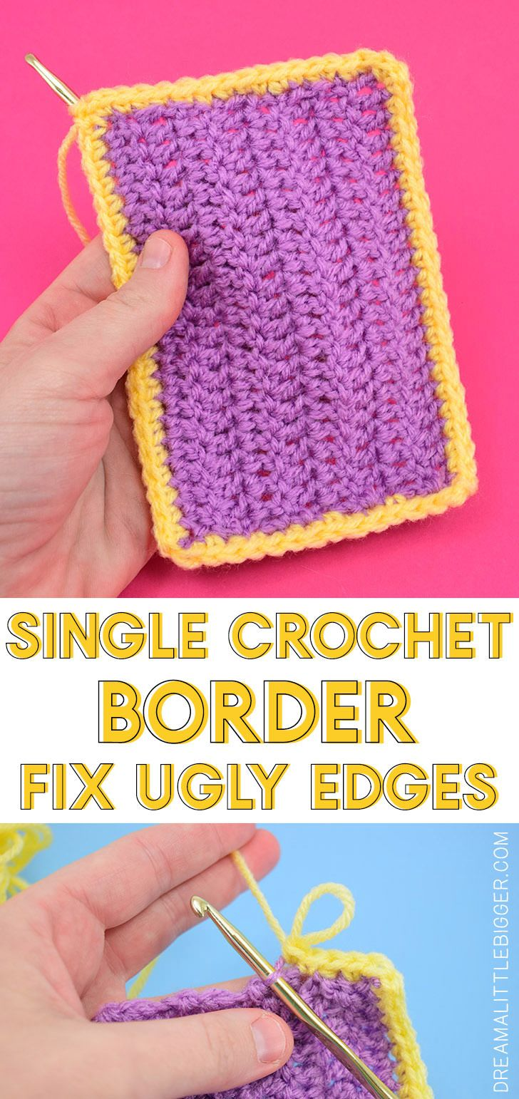 Single Crochet Border Edge to Clean Ugly Edges