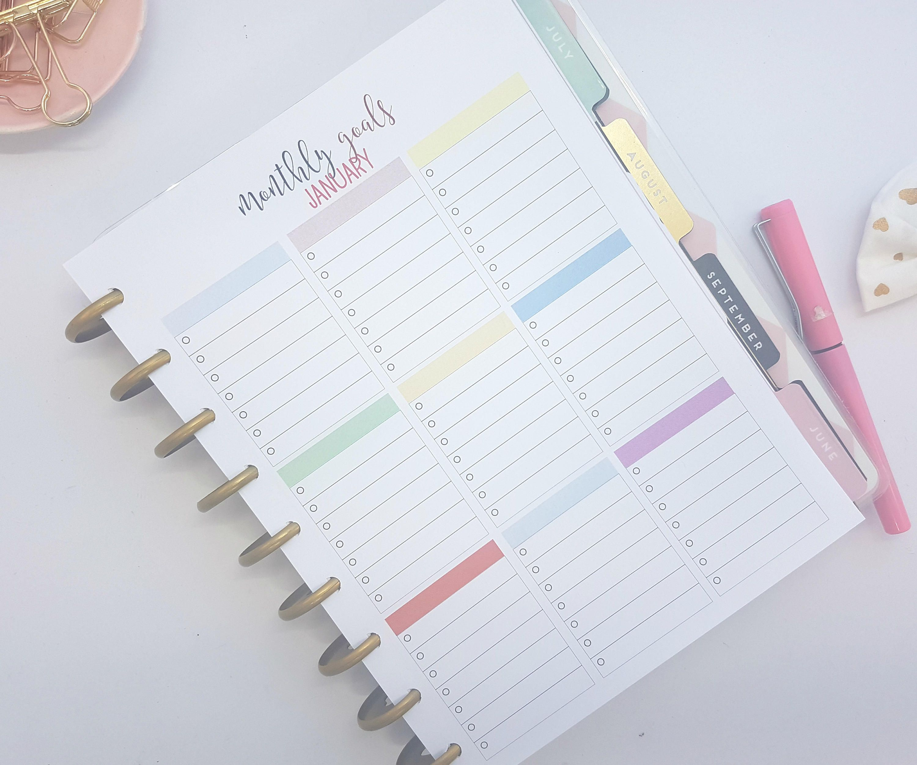 Classic Happy Planner Inserts